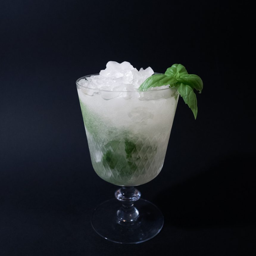 Gin Basil Smash Drink Recept
